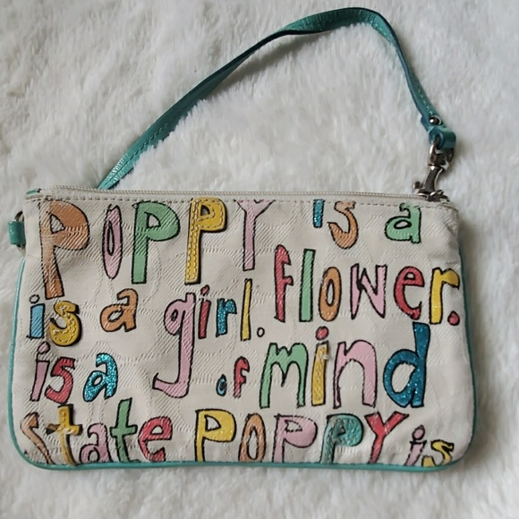 Coach Handbags - Coach Poppy Wallet Wristlet